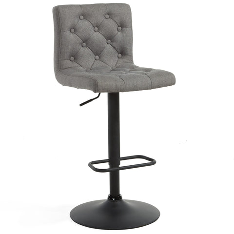 Dex Air Lift Stool - Grey Fabric