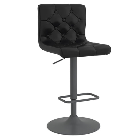 Dex Air Lift Stool - Black Faux Leather