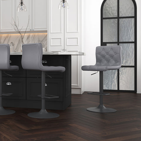 Dex Air Lift Stool - Grey Faux Leather