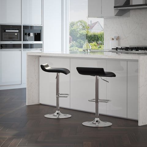 Fabia Gas Lift Stool - Black