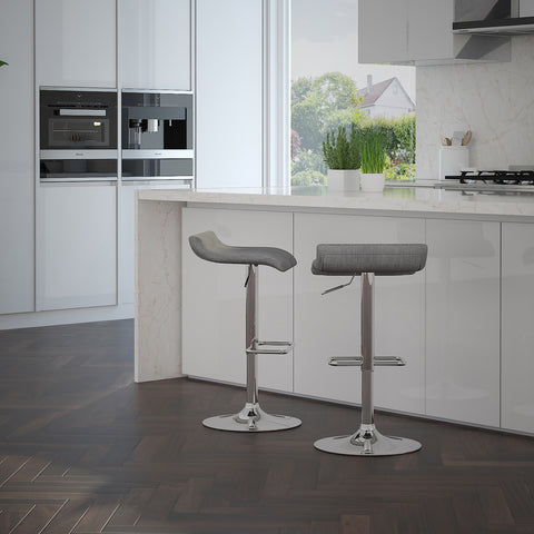 Fabia Gas Lift Stool - Grey