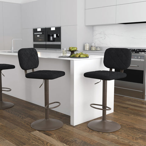Aiko Air Lift Stool - Black