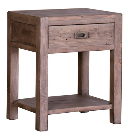 Post & Rail Sundried Reclaimed Pine End Table - Small