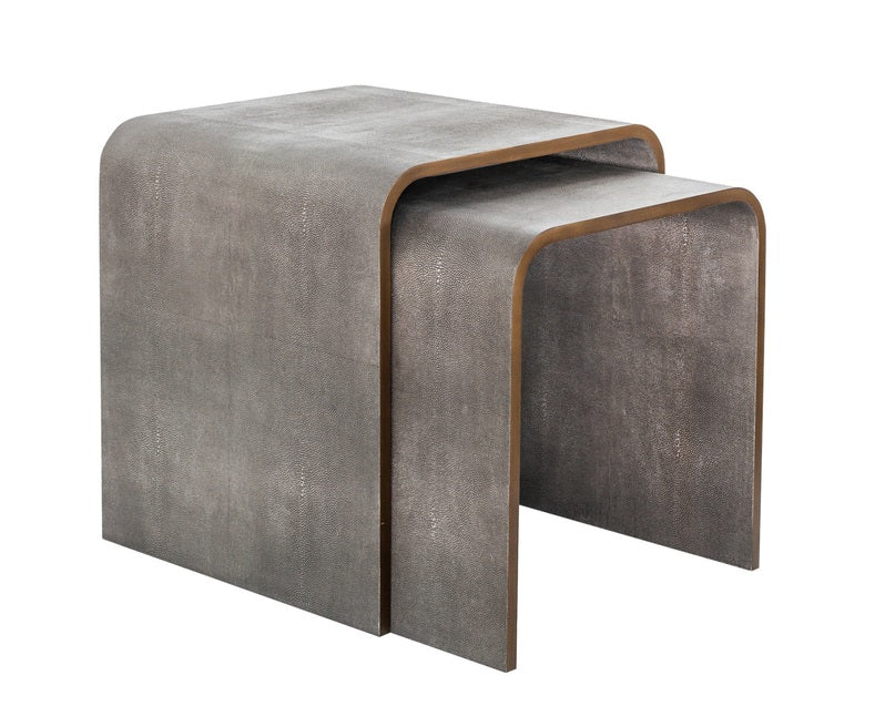 Ambiente Shagreen Nesting Side Tables - Set of 2