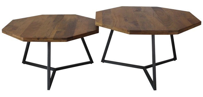 Loft Octagon Nesting Coffee Table - Set of 2