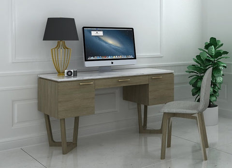 Aura Marble Writing Desk