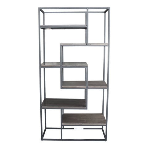 New York Multi Level Bookcase - Ash Grey