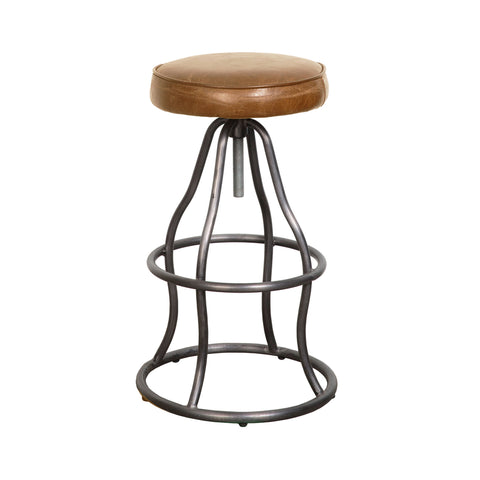 Bowie Bar Stool - Cognac Leather