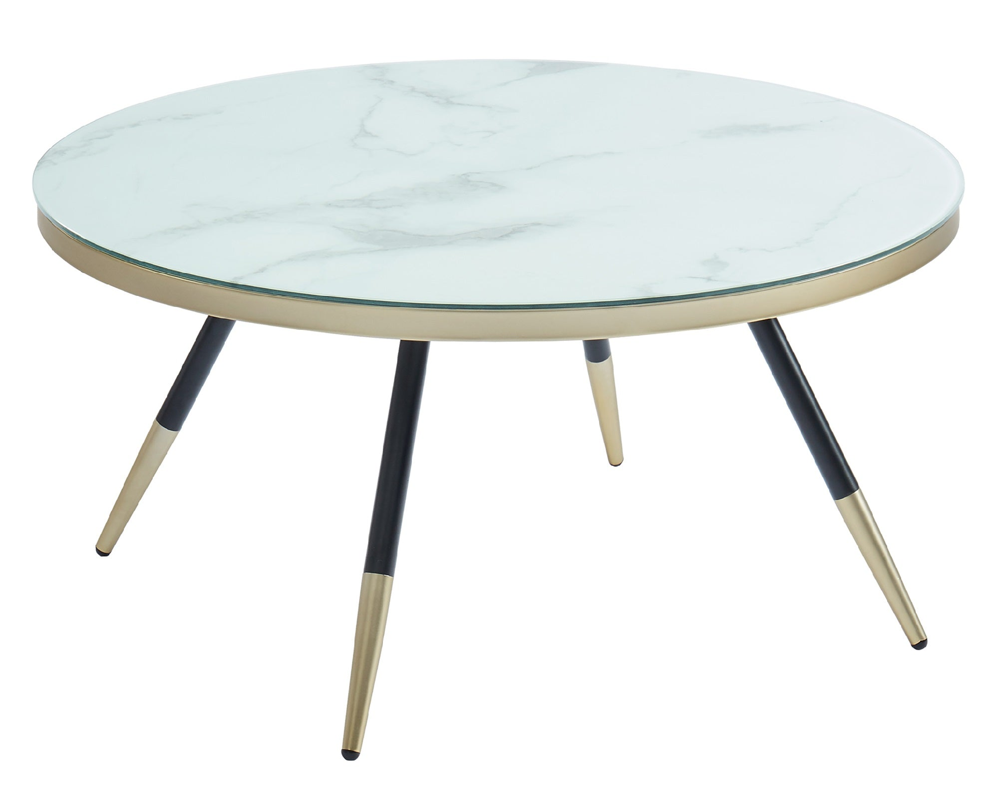 Cordelia Glass Top Coffee Table in White