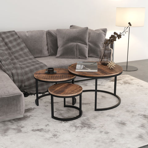 Darsh 3 Piece Coffee Table Set - Washed Grey