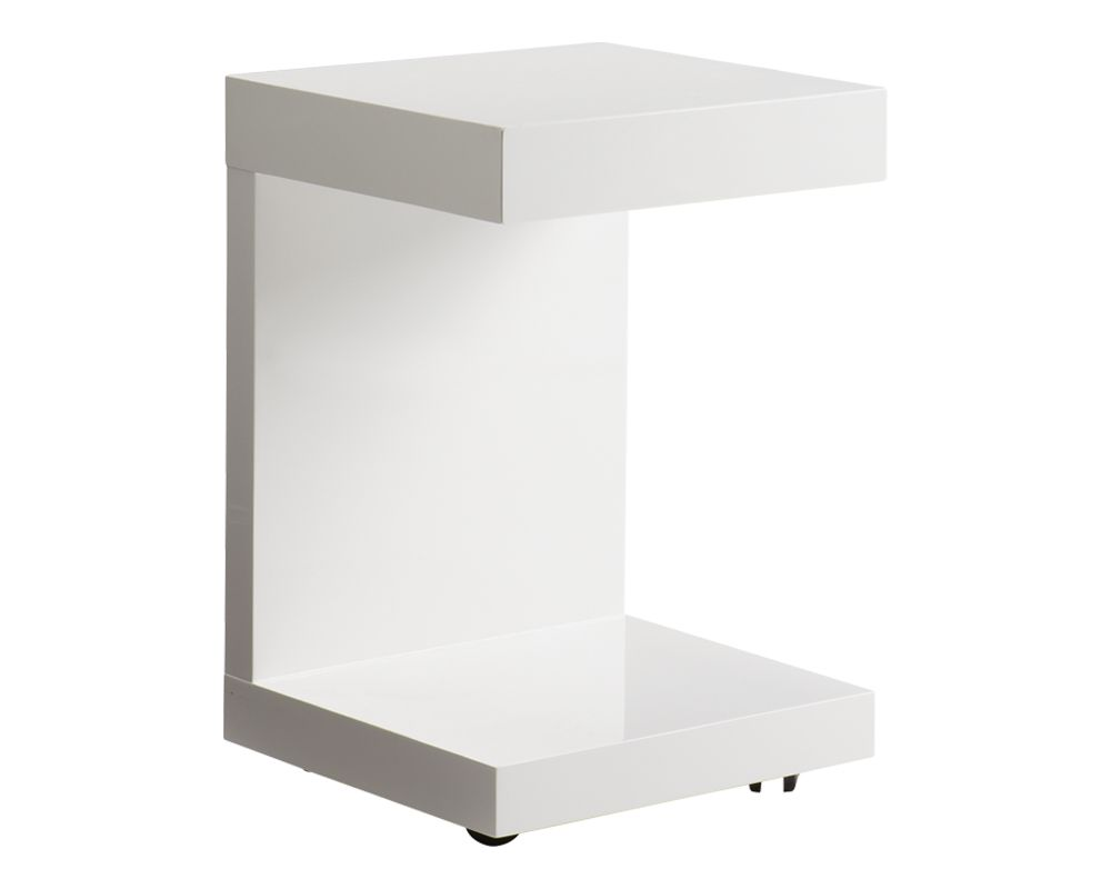 Bachelor White TV Table with Drawer