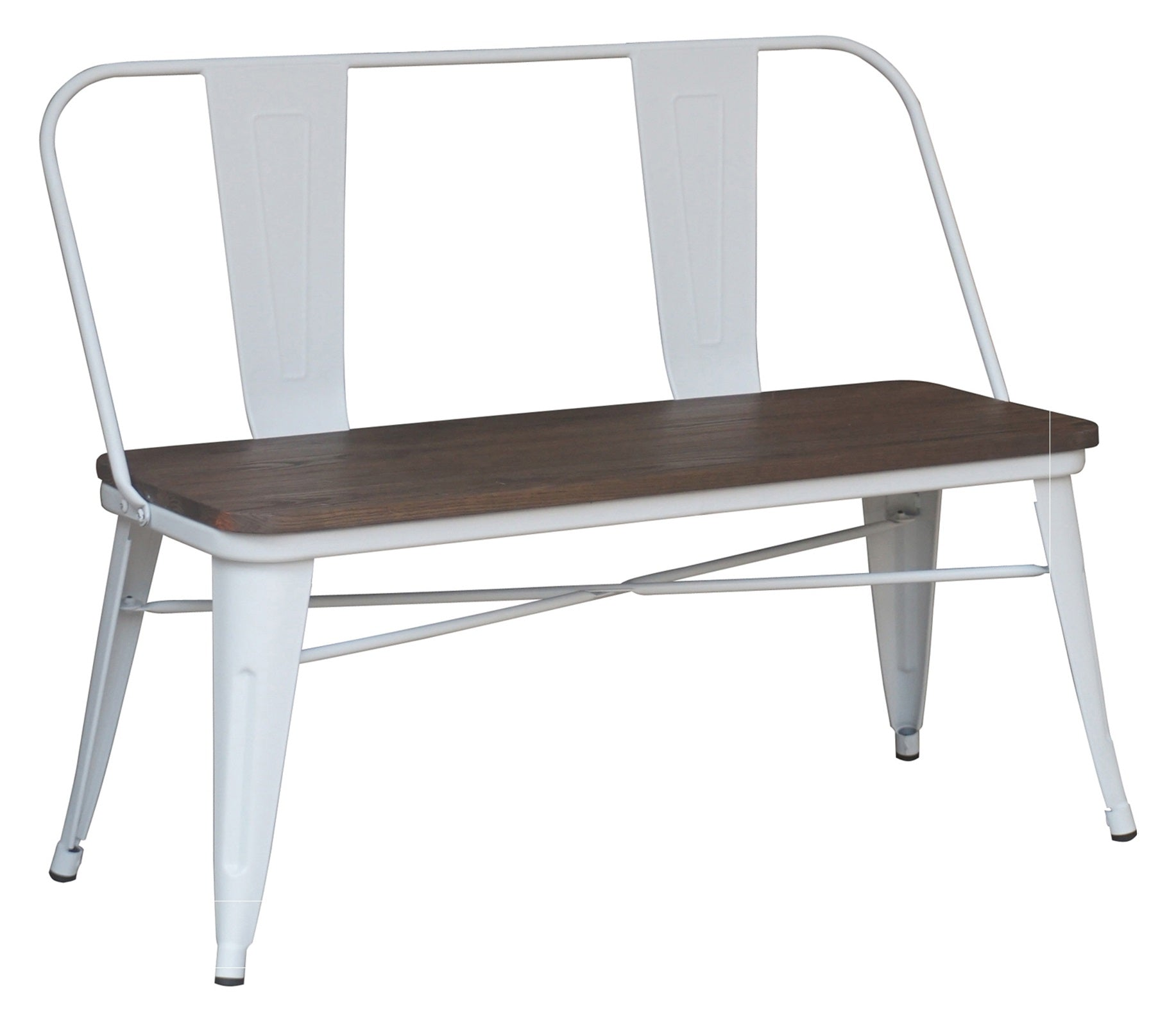 Modus Bench With Back in White