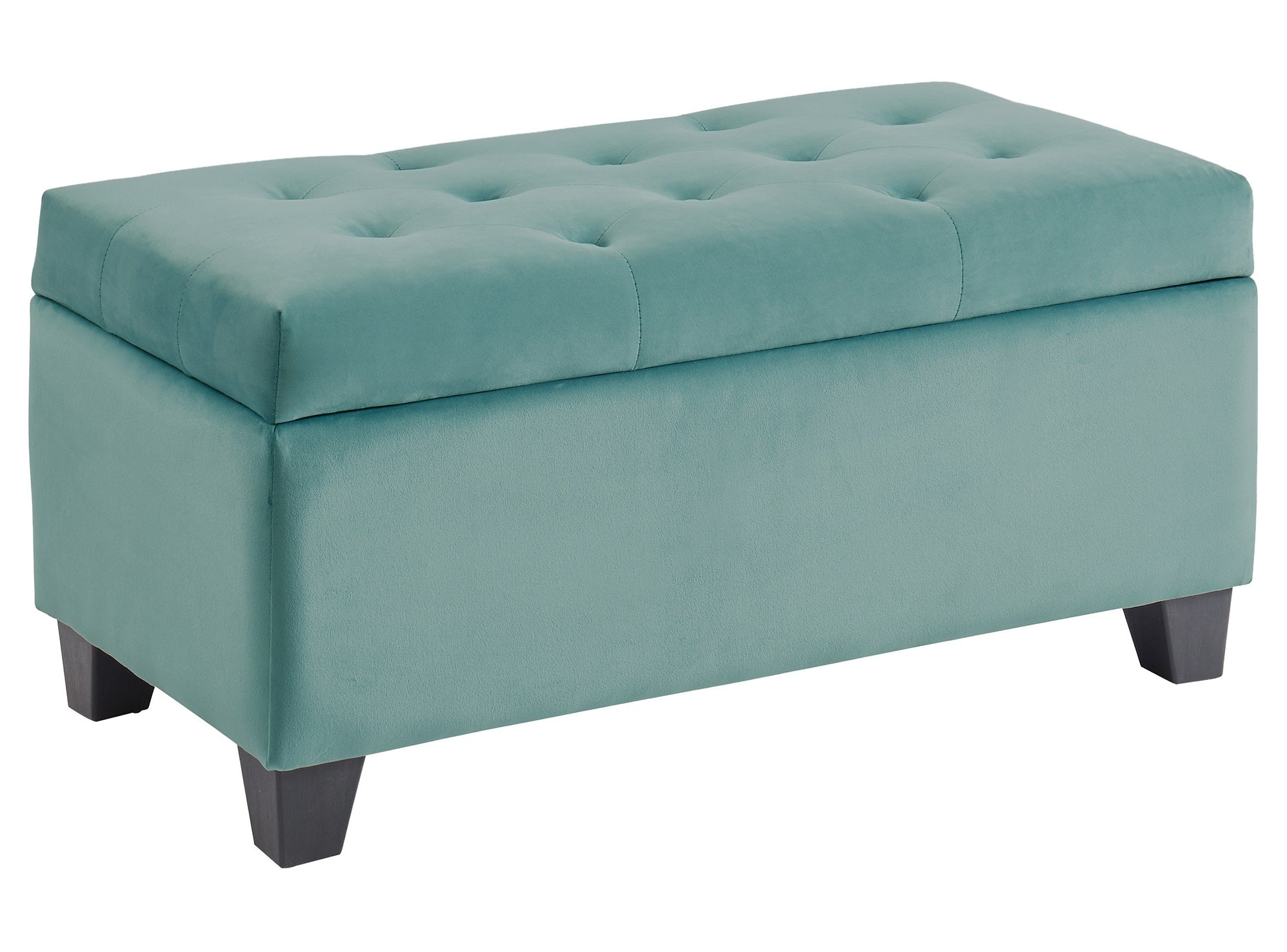 Sally Rectangular Storage Ottoman - Teal