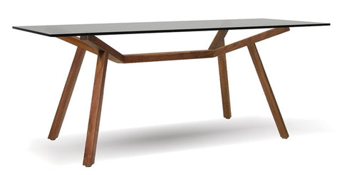 Trestle Natural Walnut Dining Table