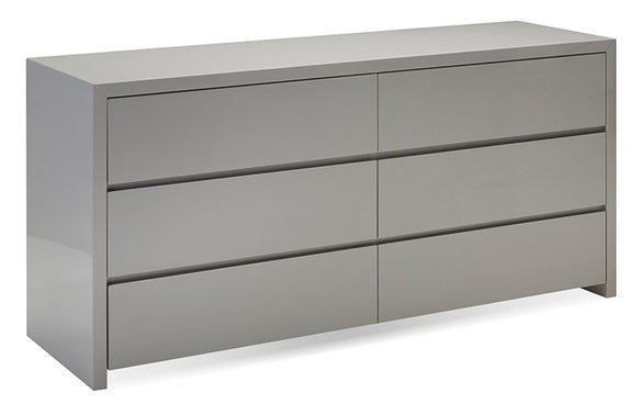 Blanche Double Dresser - High Gloss Stone