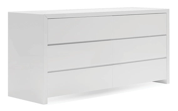 Blanche Double Dresser - High Gloss White