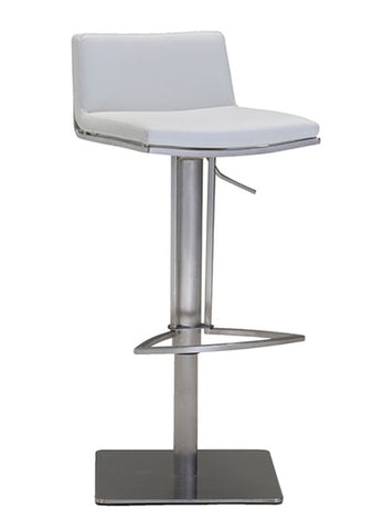 Bond Hydraulic Bar Stool - White
