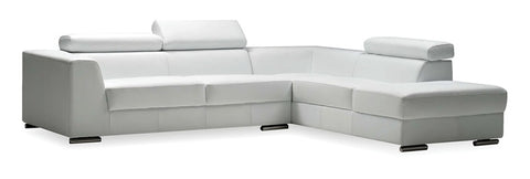 Icon Sectional Sofa - White Leatherette