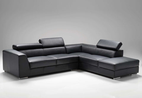 Icon Sectional Sofa - Black Leatherette
