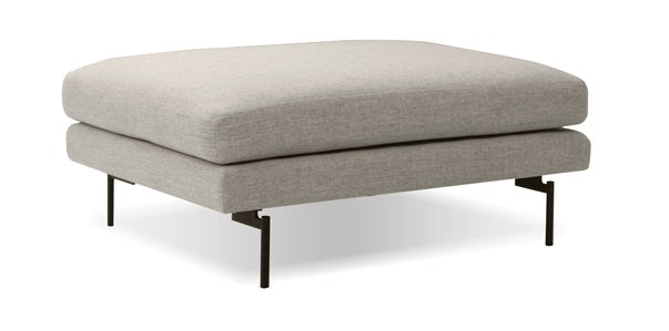 Tux Light Grey Ottoman