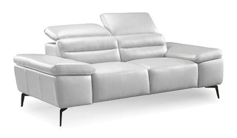 Camello Leather Loveseat - Silver