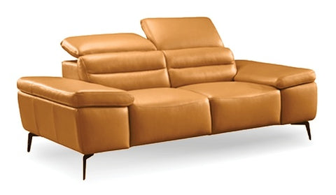 Camello Leather Loveseat - Camel