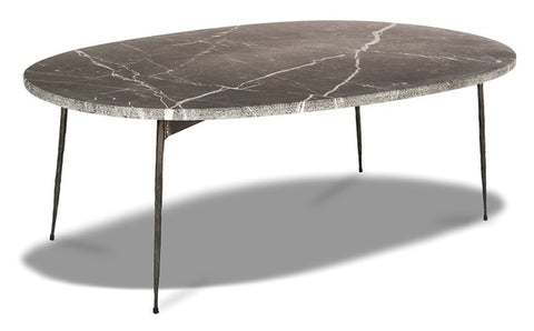 Tuk Tuk Large Marble Coffee Table - Black