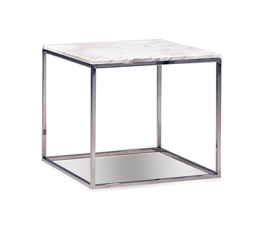 Kube White End Table