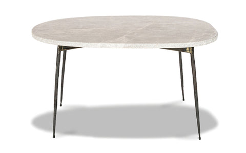Tuk Tuk Small Marble Coffee Table - Grey