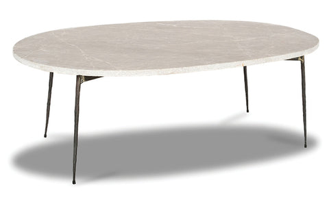 Tuk Tuk Large Marble Coffee Table - Grey