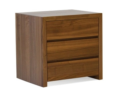 Blanche Natural Walnut 3 Drawer Night Table