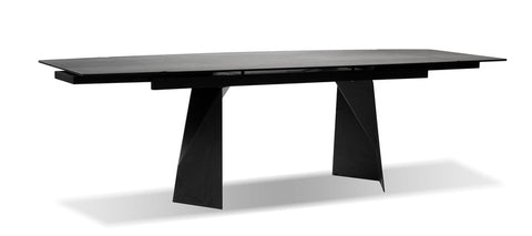Prism Industrial Extension Dining Table - Grey