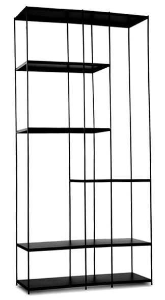 Etta Black Wall Rack - Tall