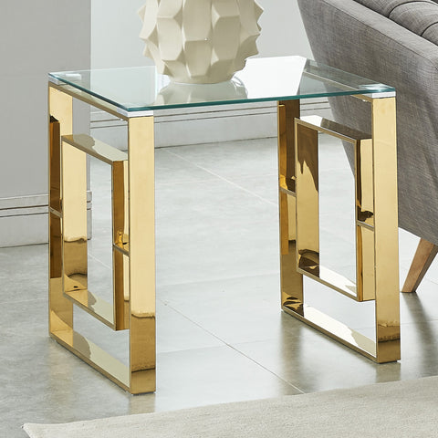 Eros Gold Accent Table
