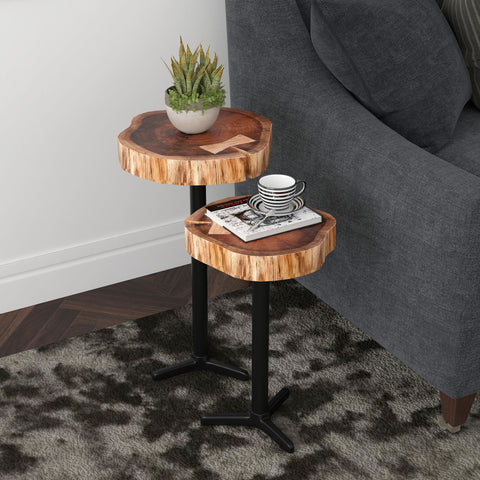 Keya Accent Tables - Natural (Set of 2)