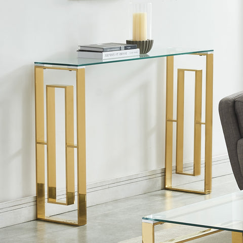 Eros Gold Console Table