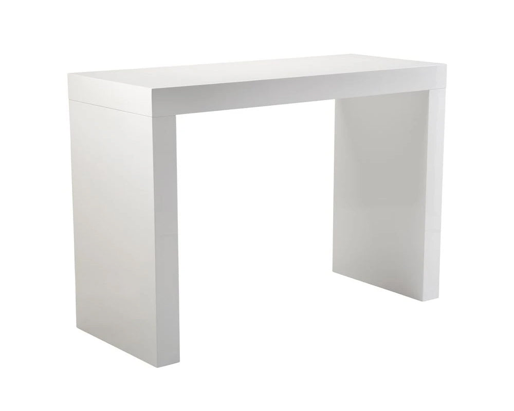 Faro White C-Shape Bar Table
