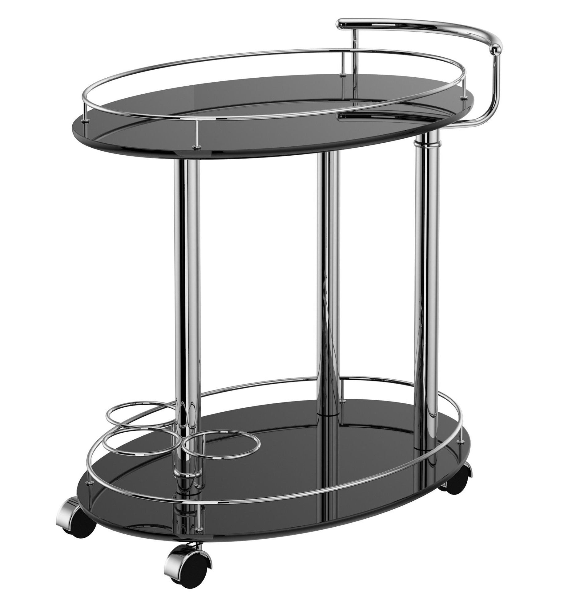 Inka 2-Tier Bar Cart - Black