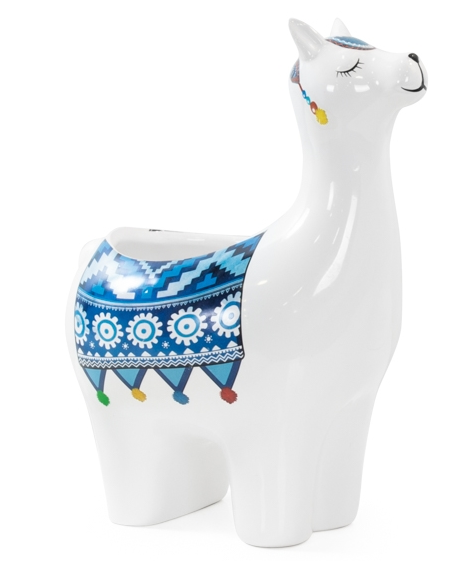 Parading Llama Ceramic Drop Pot Planter - Large