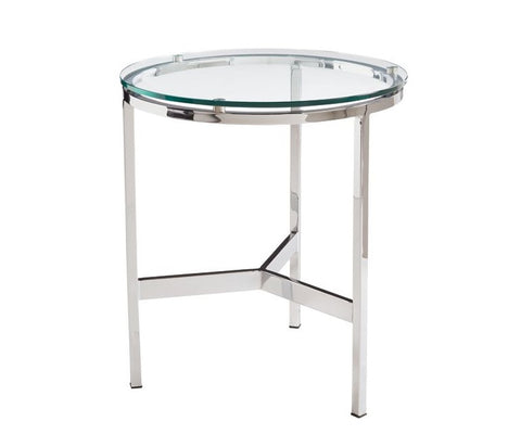 Flato Glass Round End Table