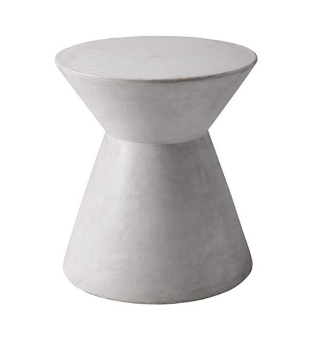 Astley Sealed Concrete End Table - White
