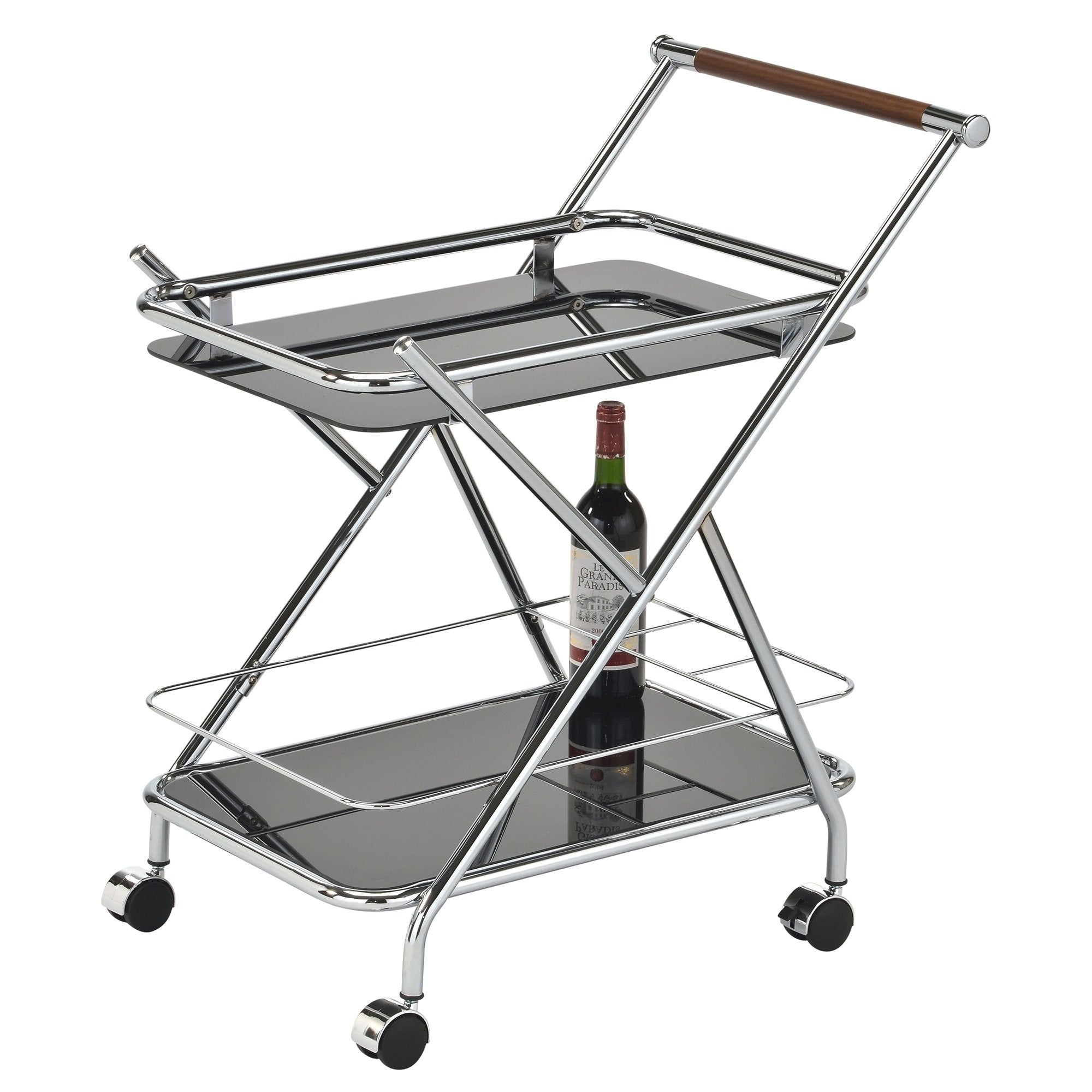 Turner 2-Tier Bar Cart - Black
