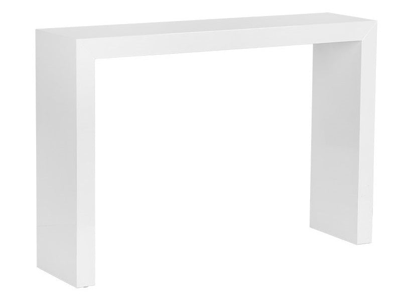 Arch High Gloss White Console Table