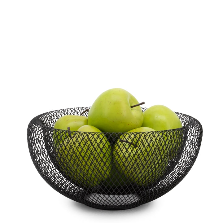 "Mesh Double Wall 9.5"" Diameter Black Bowl"