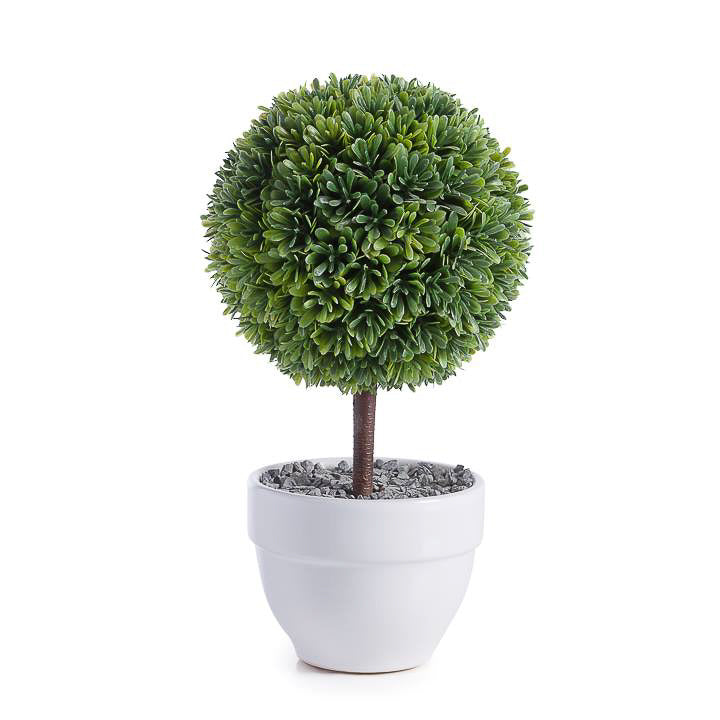 Jardin Potted Faux Topiary - Boxwood Ball