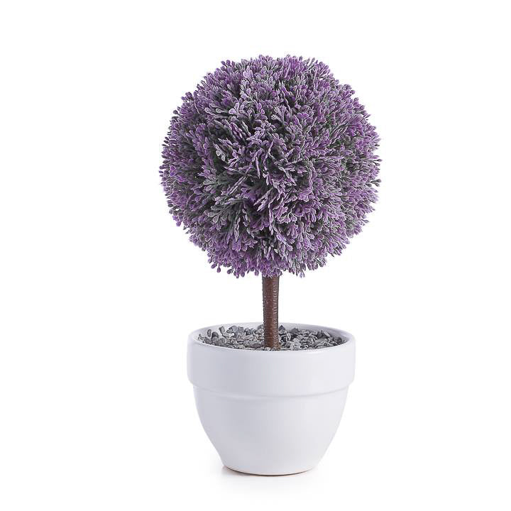 Jardin Potted Faux Topiary - Lavender Ball
