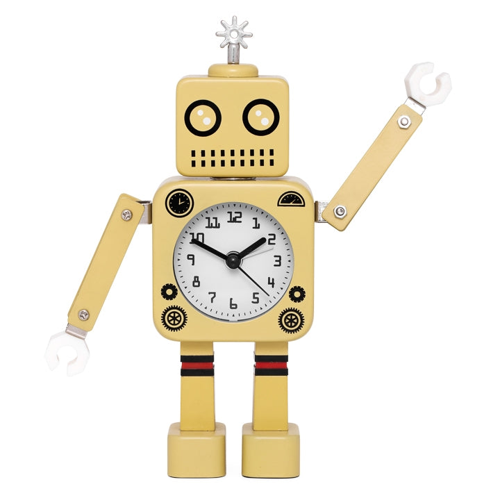 Robot Alarm Clock - Yellow