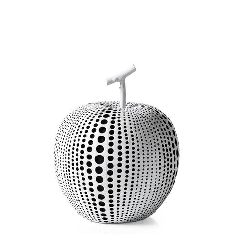 Debossed Dotted Apple - White