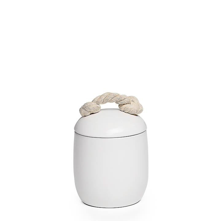 Cape White Ceramic Canister - Small