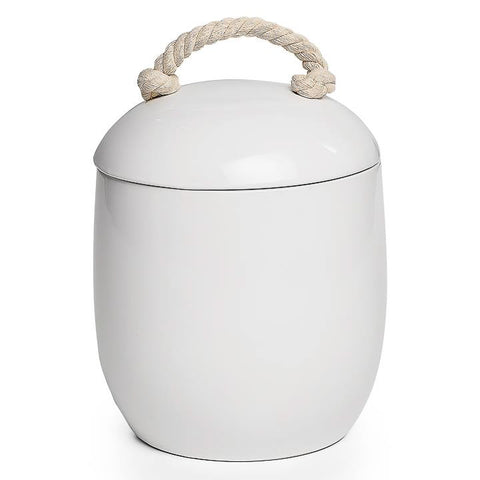 Cape White Ceramic Canister - Large